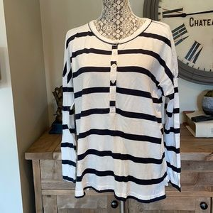 The great xs oversized drop shoulder striped top